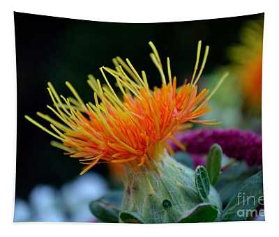 Orange Safflower Tapestry
