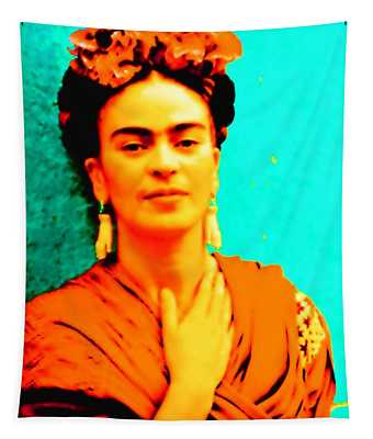 Orange You Glad It Is Frida Tapestry