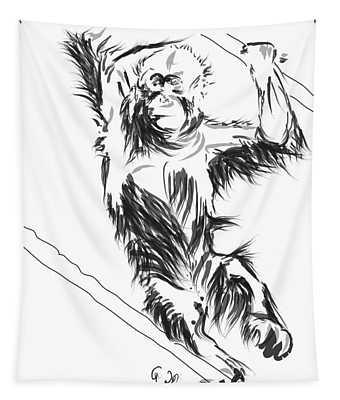 Orangutan 3 Tapestry