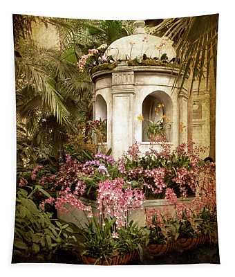 Tapestry featuring the photograph Orchid Exhibition by Jessica Jenney