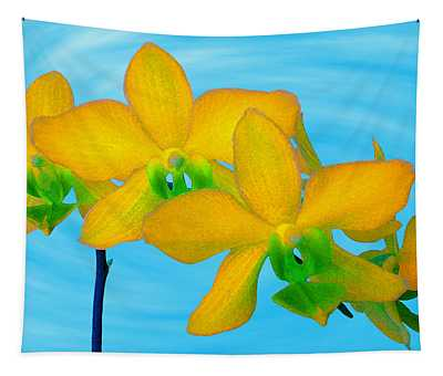 Orchid In Yellow Tapestry