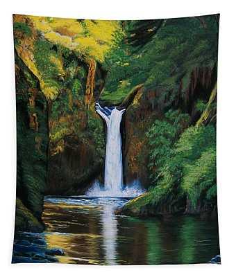 Oregon's Punchbowl Waterfalls Tapestry
