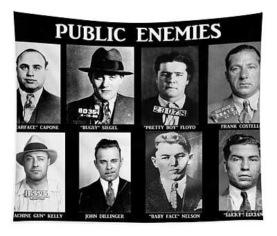 Original Gangsters - Public Enemies Tapestry