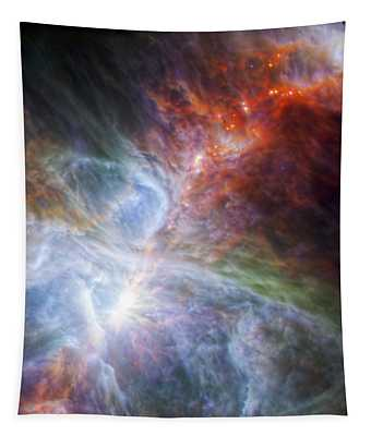 Orion's Rainbow Of Infrared Light Tapestry