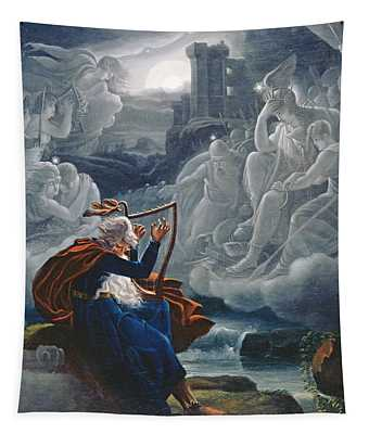 Ossian Conjures Up The Spirits On The Banks Of The River Lorca Tapestry