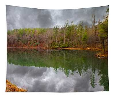 Otter Lake Reflections Tapestry