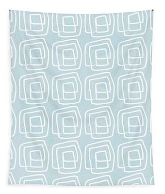 Out Of The Box Blue And White Pattern Tapestry
