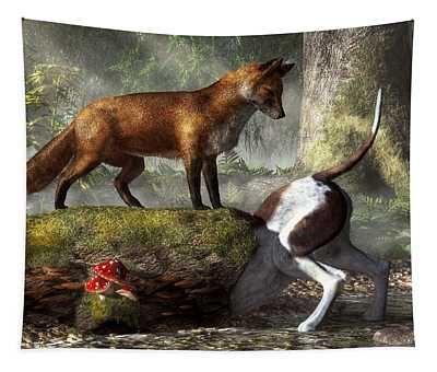 Outfoxed Tapestry