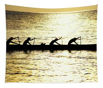 Outrigger Silhouettes Tapestry