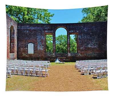 Outside Wedding Tapestry