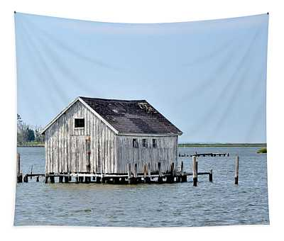 Oyster Shucking Shed Tapestry