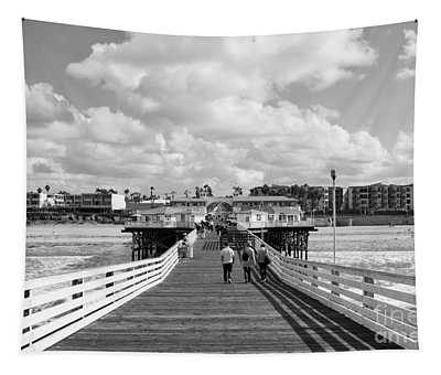 Pacific Beach From Crystal Pier Tapestry
