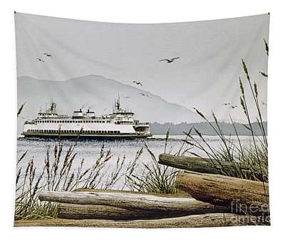Pacific Northwest Ferry Tapestry