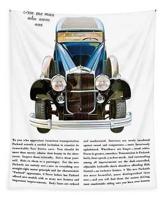 Packard Automobile - Vintage Poster Tapestry