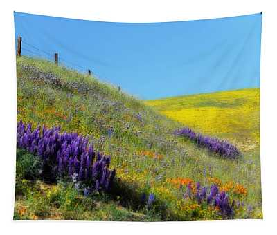 Painted With Wildflowers Tapestry