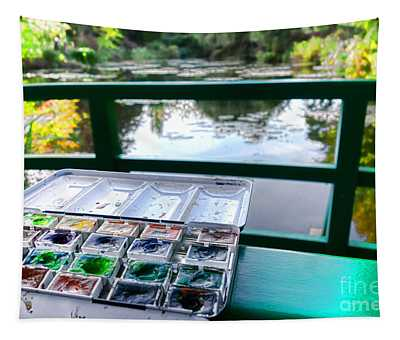 Painting In Giverny Tapestry