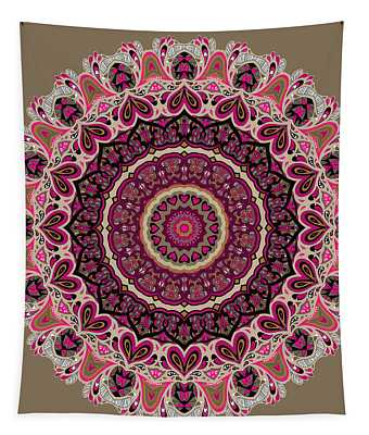 Tapestry featuring the digital art Paisley Hearts by Joy McKenzie