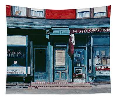 Palace Barber Shop And Lees Candy Store Tapestry