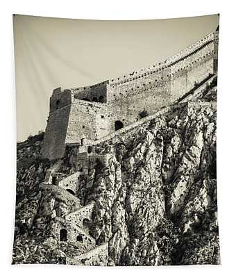 Palamidi Fortress Stairs Tapestry