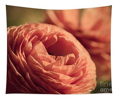 Pale Pink Petals Tapestry