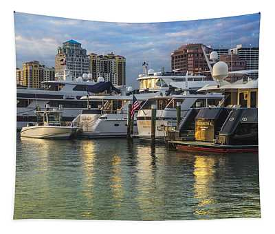Palm Beach Marina Tapestry