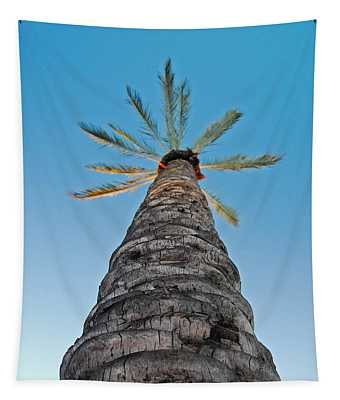 Palm Tree Looking Up Tapestry