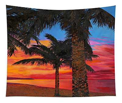 Palme Al Tramonto Tapestry