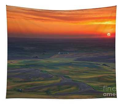 Palouse Sunset Tapestry
