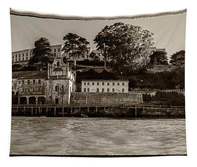 Panorama Alcatraz Torn Edges Tapestry