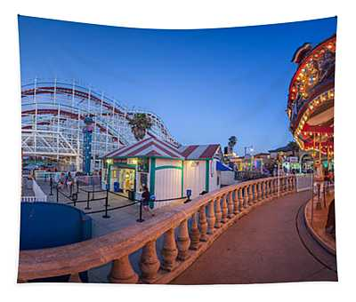 Panorama Giant Dipper Goes 360 Round And Round Tapestry