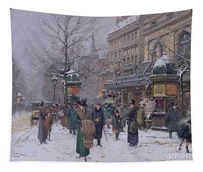 Parisian Street Scene Tapestry
