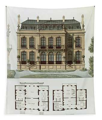 Parisian Suburban House And Plans Tapestry