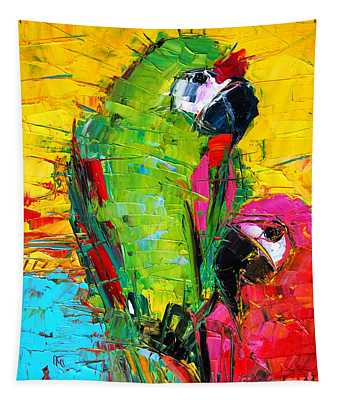 Parrot Lovers Tapestry