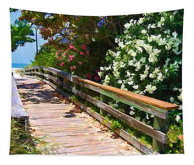 Pathway To Beach Tapestry