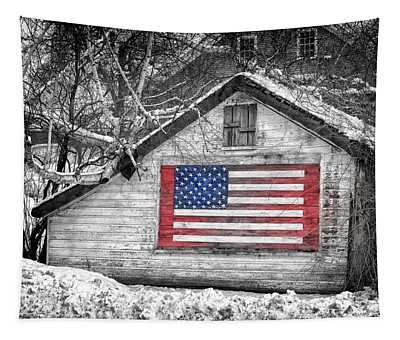 Patriotic American Shed Tapestry