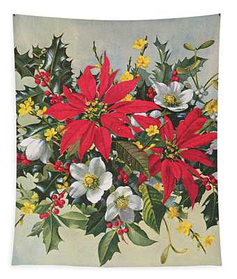 Christmas Flowers Tapestry
