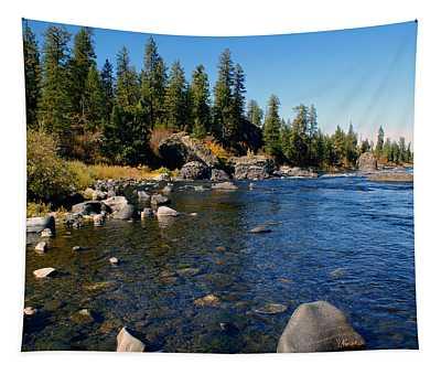 Peace On The Spokane River 2 Tapestry