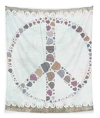 Peace Symbol Design - S76at02 Tapestry