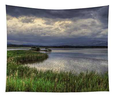 Peaceful Evening At The Lake Tapestry