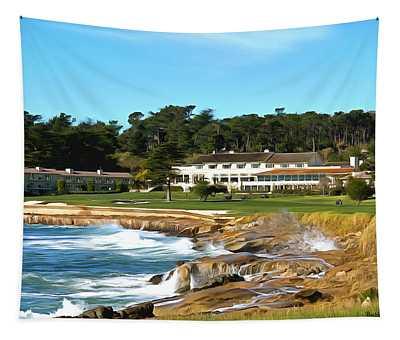 Pebble Beach Club House Tapestry