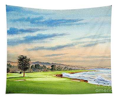 Pebble Beach Golf Course 18th Hole Tapestry