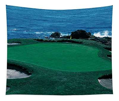 Pebble Beach Golf Course 8th Green Tapestry