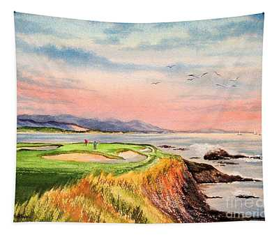 Pebble Beach Golf Course Hole 7 Tapestry