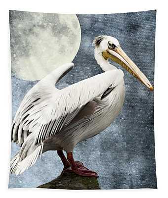 Pelican Night Tapestry