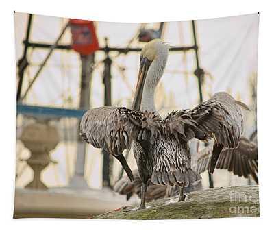 Pelican Strut Tapestry