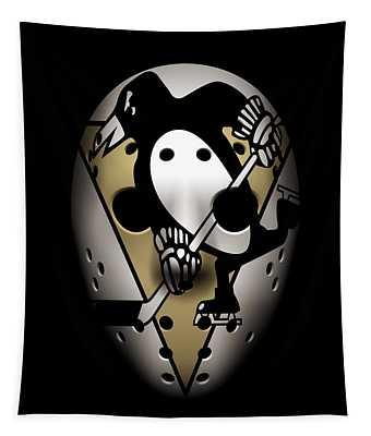 Penguins Goalie Mask Tapestry