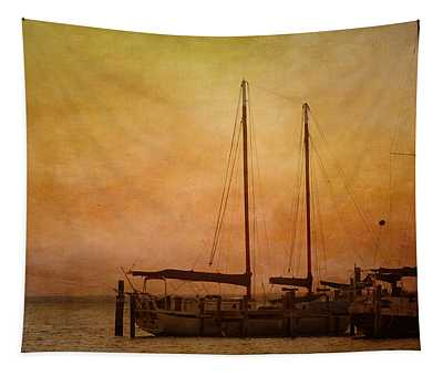Tapestry featuring the photograph Pensacola Harbor by Kim Hojnacki