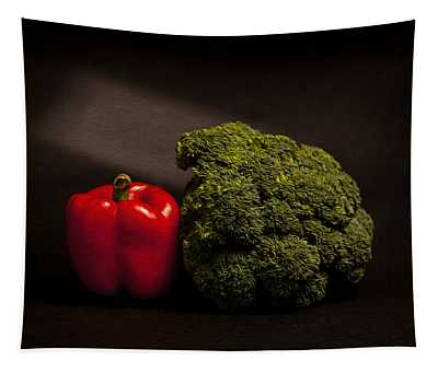 Pepper And Broccoli Tapestry