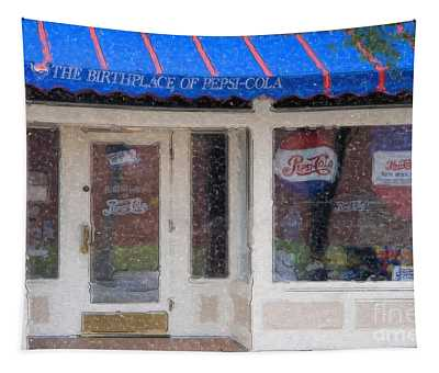 Pepsi Cola Birthplace Watercolor Tapestry