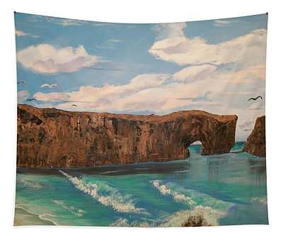 Perce Rock Gaspe  Quebec Tapestry